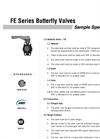 FE Valves SPECIFICAITON Data Sheet